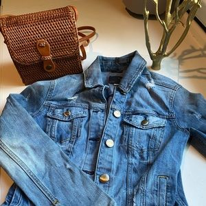 American Eagle Distressed Denim Jacket